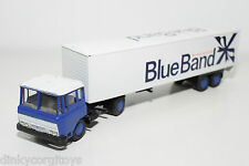 LION CAR LION TOYS 36 DAF 2600 TRUCK WITH TRAILER BLUE BAND AH EXCELLENT