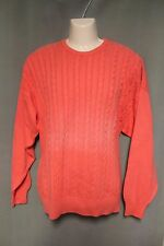 Burberry's Vintage Mens Pink Cableknit Sweater Large L