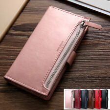 For Samsung S20/Plus/Ultra 5G S10/9 Zipper Leather Wallet Flip Case Card Cover