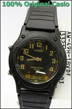 AW-49H-1B Casio Plactic Men Watch Dual Time Stopwatch Brand-New Analog Digital