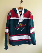 47 Brand Minnesota Wild NHL Hoodie Dark Green Jersey Mens Size: S