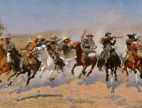 Wild West Western Cowboys CANVAS Art Print Frederic Remington Home Decor 8x10