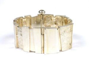 massives Vintage-Design-Armband - LOHMANN / Kopenhagen - 925er Sterling Silber