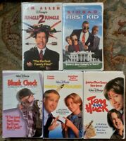 Disney Live Action 90s Films VHS Lot Of 5 First Kid, Tom & Huck, Blank Check, +