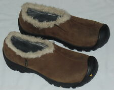 KEEN BROWN SUEDE SLIP ON MOCCASINS SHOES GIRLS YOUTH Size 6