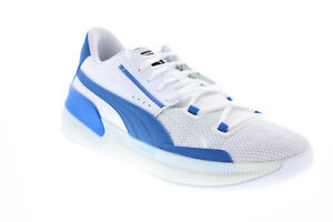 Puma Clyde Hardwood Team 19445405 Mens White Athletic Basketball Shoes