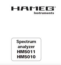 HAMEG HM5011, HM5010 Spectrum Analyzer Service Manual Schaltplan Techniques