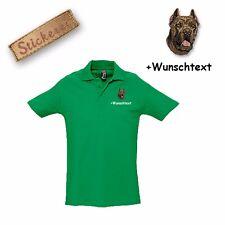 Camiseta Polo Algodón Bordado Perro Cane Corso + Texto personalizado