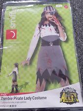 ladies Halloween zombie pirate costume fancy dress