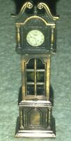 Vintage Miniature Diecast Metal  Grandfather Clock / dollhouse pencil sharpener
