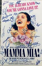 Mamma Mia SIGNED Window Card Poster Broadway 22x cast autographed