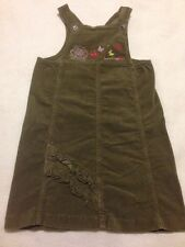 Sucre D' Orge 6, Girls Green Velvet Jumper Dress