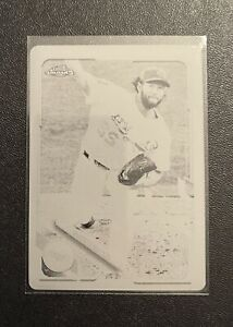 Clayton Kershaw 2021 Topps Chrome 1/1 One Of One Black printing plate