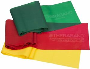 TheraBand Resistance Band Set, Professional Latex Elastic Bands for Upper &...