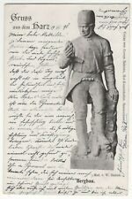 Gruss Aus Dem Harz Bergbau Germany 1898 U/B Vignette Postcard 162c