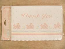 New Hallmark Baby Celebrations Cute Bunny 8 Thank You Notes & Envelopes