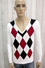 BURBERRY LONDON Uomo Taglia L Maglione Cotone Sweater Pullover Maglietta Maglia