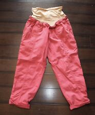 Motherhood Maternity Pink Full Panel Roll Up Casual Cargo pants Size XL