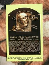 Roy Halladay Postcard- Baseball Hall of Fame Induction Plaque - Photo