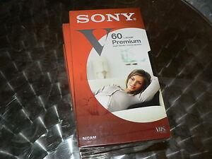 SONY VHS V60 Premium High Grade 5 Stück Videotape NEU