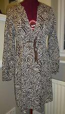 Monsoon Cotton Blend 3/4 Sleeve Dresses Midi