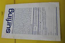 Vintage Surfing Yearbook 1964 Original Order Form Greg Noll Ricky Grigg 5x8in.