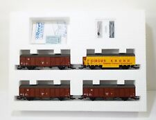 Roco/Preiser 4 Box Cars Set Circus Krone HO Scale Train Car Model #44009 MIB