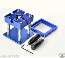 Blue 80mm X 80mm BGA Reballing Rework Station with Hand Grip Stencil Holder Jig