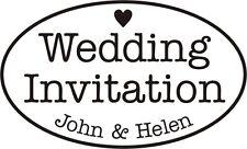 Personalised Vintage Wedding Invitation Rubber Stamp