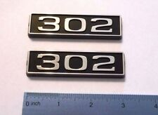 302 black plastic with chrome emblem emblems badge new