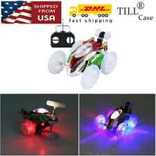 Toy For Boy Girl Kid Remote Control 360 Stunt Twister LED Lighting Car Xmas Gift