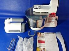 Kenwood HM680 Chefette Hand Mixer with Bowl-White & Grey
