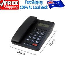 Black Corded Phone Caller ID Landline Desktop Home Telephone Hotel Bar