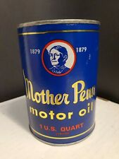 Vintage Original MOTHER PENN CAR AUTOMOBILE Quart Oil Can Coin Bank 1960s
