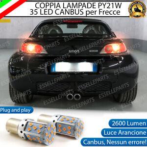 COPPIA LAMPADE PY21W BA15S CANBUS 35 LED SMART ROADSTER 452 FRECCE POSTERIORI