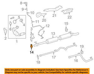 MERCEDES OEM 12-15 C350 3.5L-V6-Exhaust Clamp 0004901341
