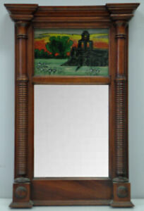 Federal Period Reverse painted Mirror