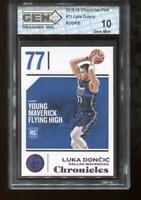 Luka Doncic RC 2018-19 Panini Chronicles Pink Rookie GEM MINT 10