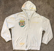 Don Ed Hardy Dogs Rule Patches Men's Hoodie Sweatshirt Zip Up Jacket Size 3XL