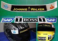 Motor Sport F1 Helmet Set fit Lewis Hamilton Mclaren Visor + Large stickers M&M