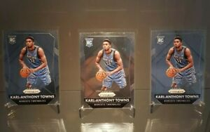 2014-15 Panini Prizm KARL ANTHONY TOWNS X3 Rookie Prizm Lot (NMT-MT) READ