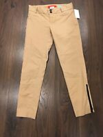 """Cartonnier Anthropologie Tan """"Charlie Ankle""""Pants With Zipper Accents, Size 0"""
