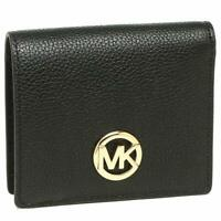 NWT Michael Kors Fulton Carryall Card Case Coin Wallet Black