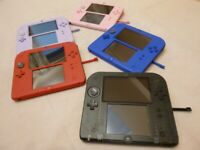 Nintendo 2DS Console Only Various colors Used Select charger and memory card