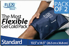 "Two (2) FlexiKold Gel Cold Packs - STANDARD Size (10.5"" x 14.5"") - 2 PK"