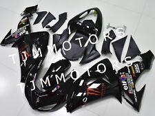 For KAWASAKI ZX10R 2006 2007 ABS Injection Mold Bodywork Fairing Kit Black Red