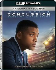CONCUSSION (4K ULTRA HD Atmos)- Blu Ray - Sealed Region free (29/03/16)