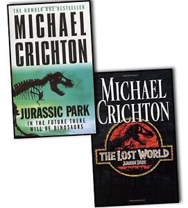 Michael Crichton Jurassic Park 2 Books Set Collection, The Lost World ...