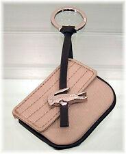 New Authentic Vintage LACOSTE BAG CHARM Crocolite Purse with Flap Sand Beige