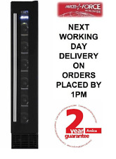 Amica AWC150BL 15cm Free Standing 6 Bottle LED Black Wine Cooler - Brand New